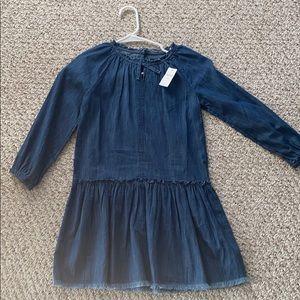 GAP KIDS denim dress. MED NWT